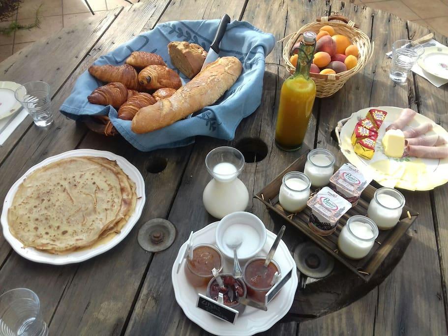 option petit déjeuner en supplément