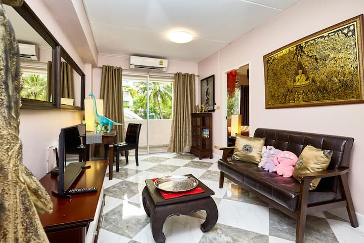 ♡Southern Sun Sukhumvit - boutiqish flat at BTS☼