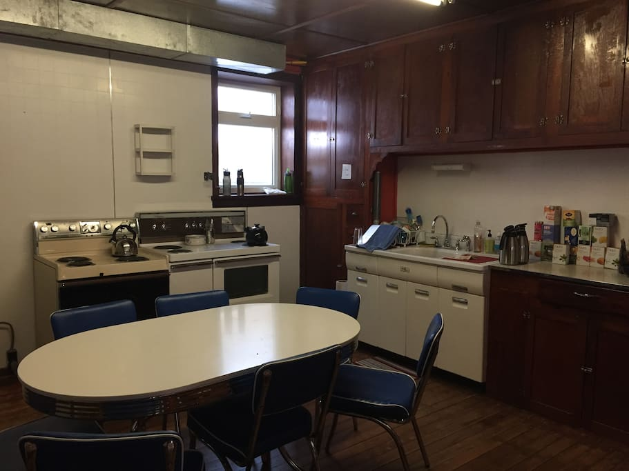 the kitchen...fridge & coffee maker included