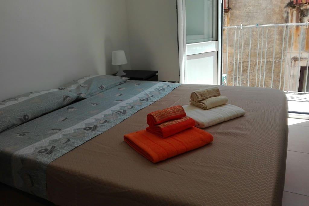 1st bedroom with balcony