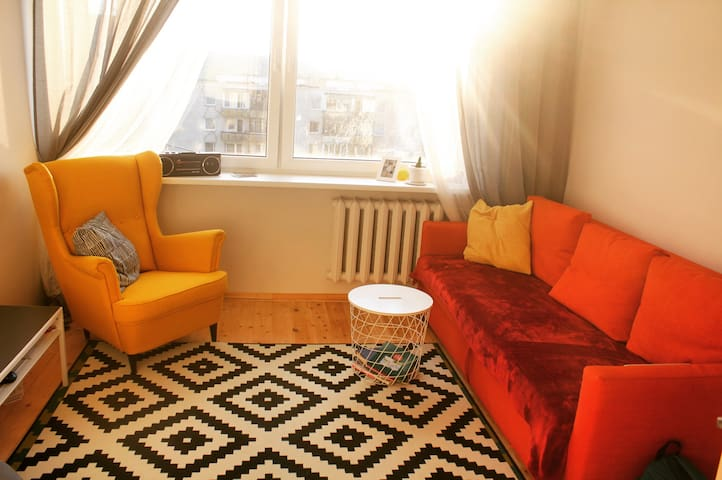 A colourful cosy room close to city center