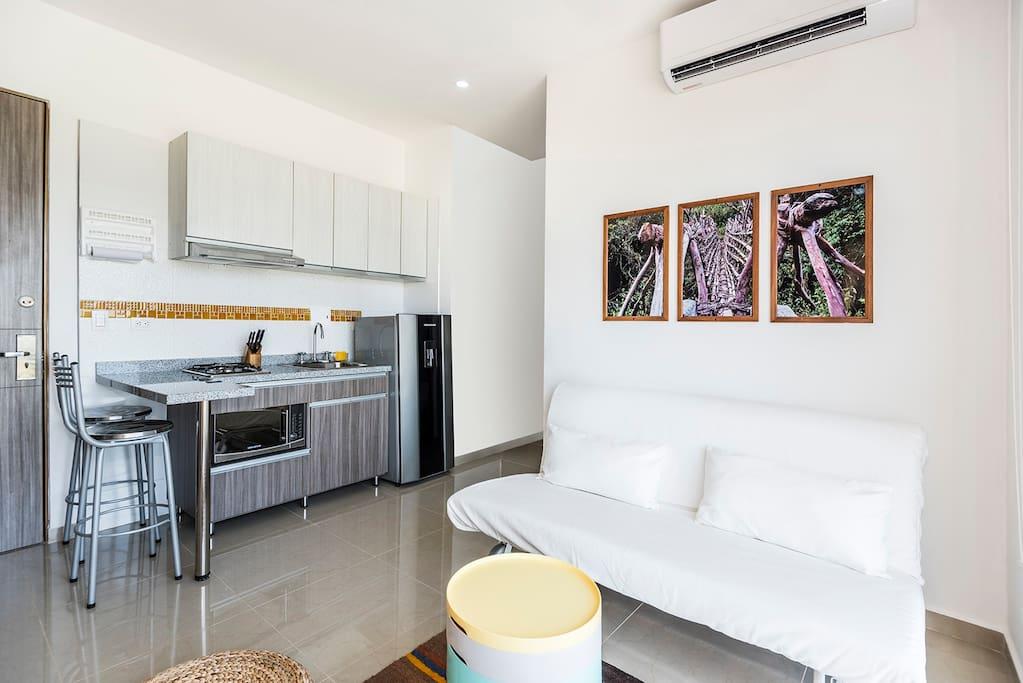Sala de Estar/Cocina - Leaving Room/Kitchen