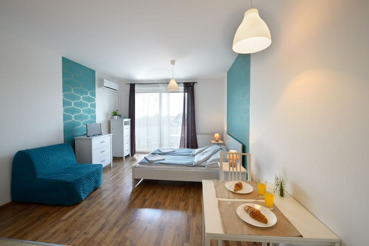 Fancy Flat with great city view&modern environment