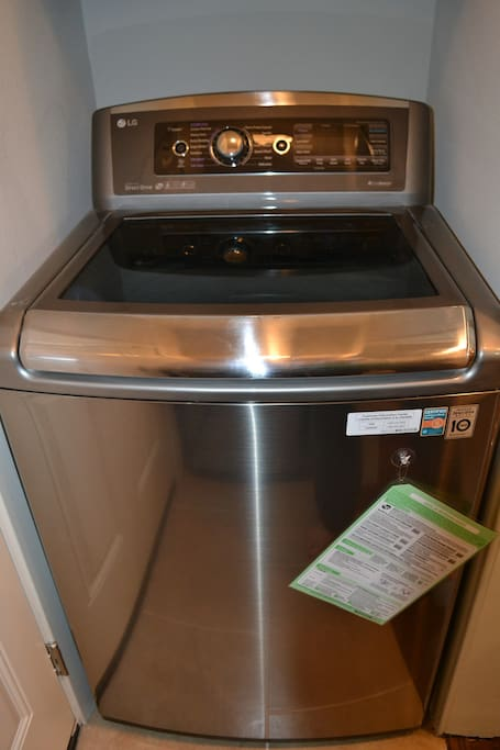 LG Fancy Washer can do a million settings