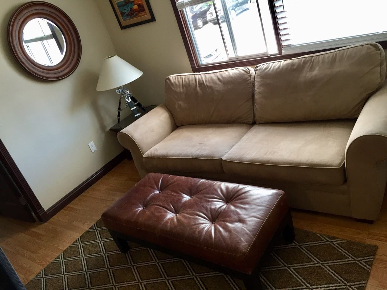Living room or common space w/ queen sofa bed