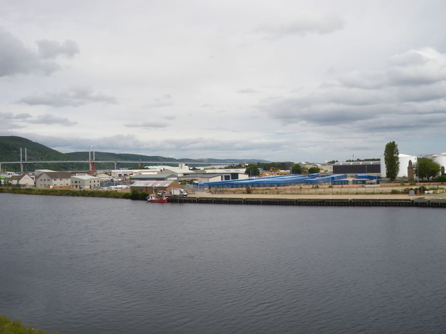 Balcony view of the Kessock bridge.