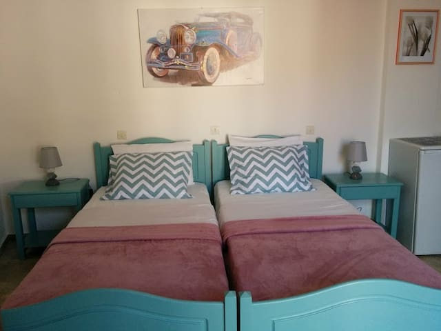 Room number 4 with two singe beds