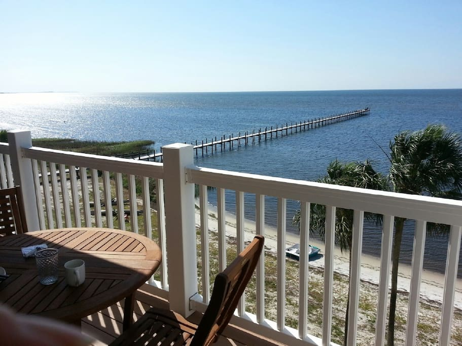 Unobstructed Gulf Views from balconies on both floors of this gorgeous condo