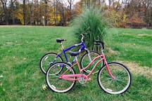 Bicycles are free and available to use anytime.  We are located on one of the designates Talbot County bicycle trails:  Seats are adjustable for ease of usage.