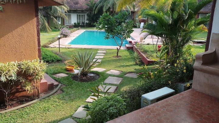 Exquisite 3 bhk pool facing villa in Anjuna