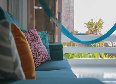 Accogliente appartamento con vista sull'oceano