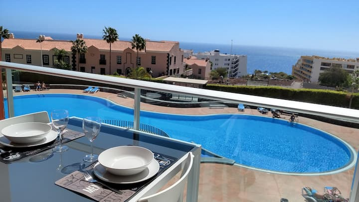 Golf del Sur-new & sunny apartment with seaview