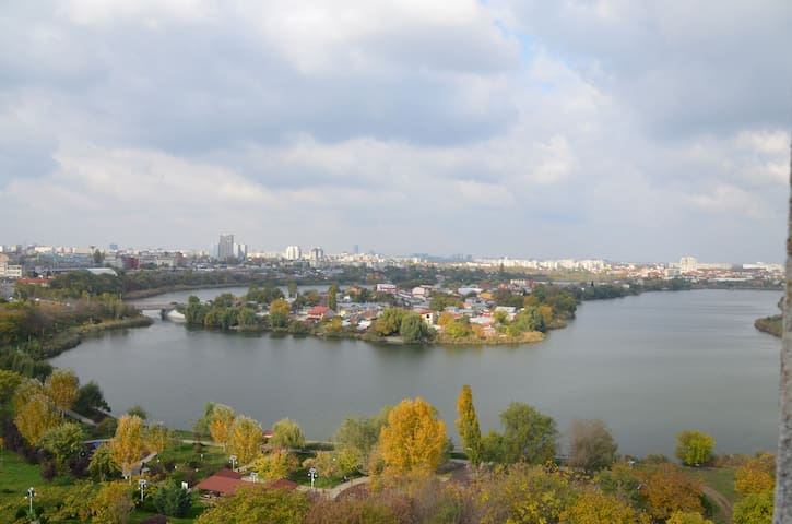 Spartan apartment with a great view near Mega Mall - București - Apartment