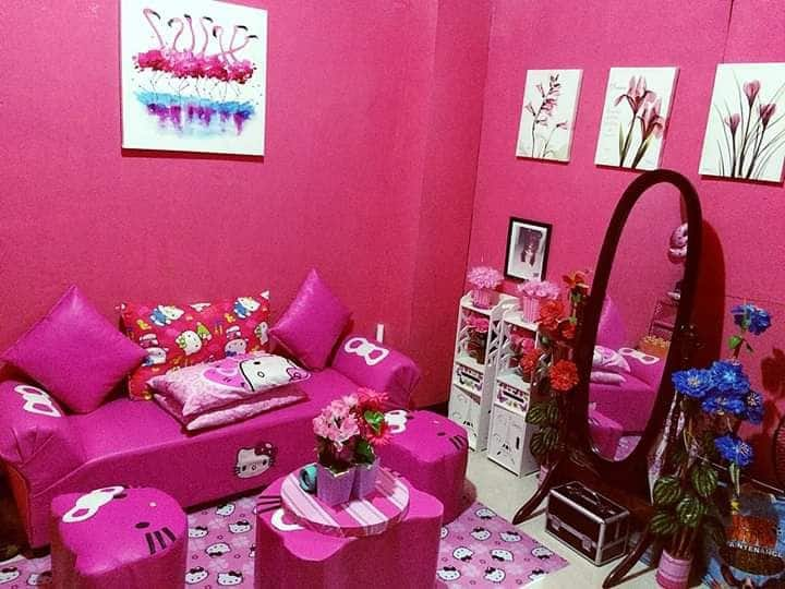 Hello Kitty Themed House/Pink Interior/Solo Stay