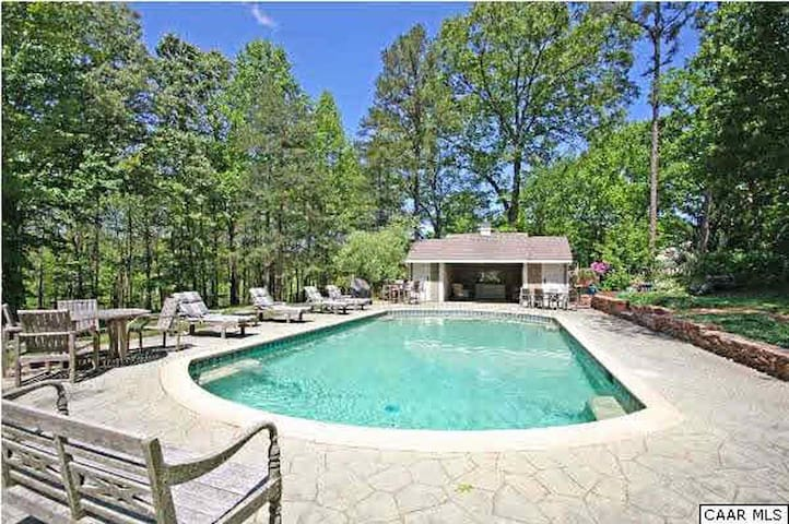 5BR/4.5BA/Pool-Country Estate - 10 mins from UVA