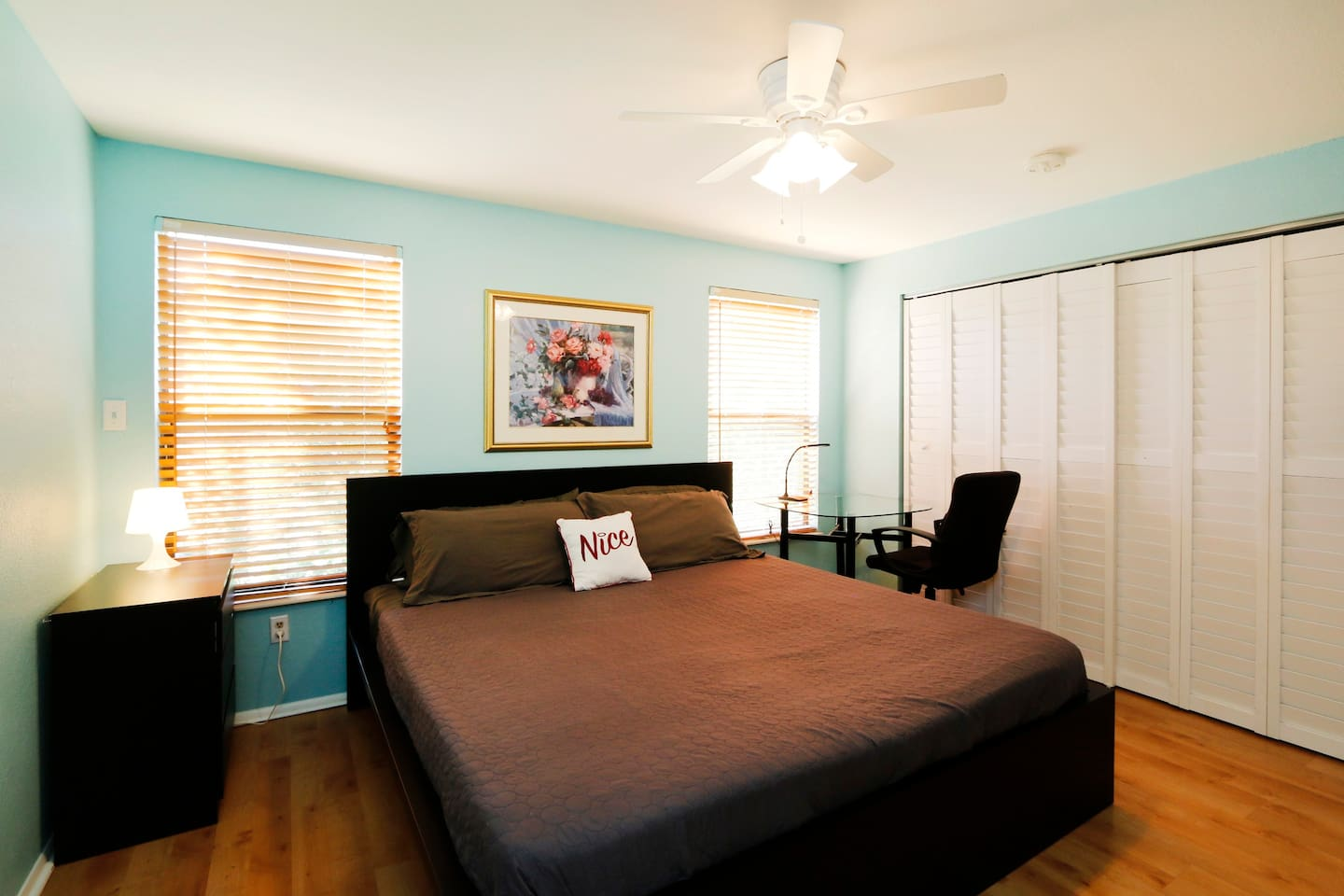 When you step into Bedroom #1 you will see a spacious master bedroom