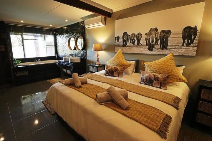 NGALALI RETREAT - Elephants Room -Safari in Kruger