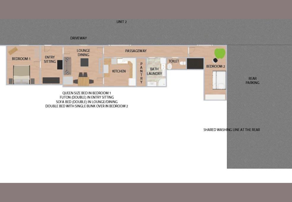 unit 2 plan view of whole unit