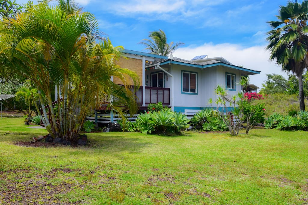 Princess Cottage has a landscaped yard with tropical plantings.