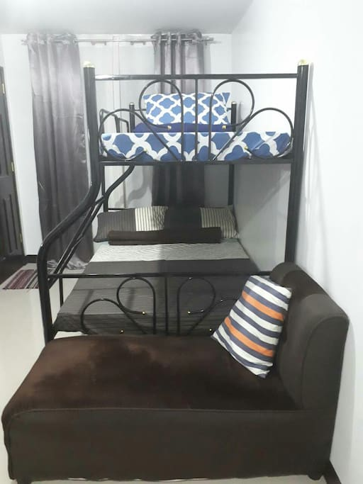 Double deck bed and sofa