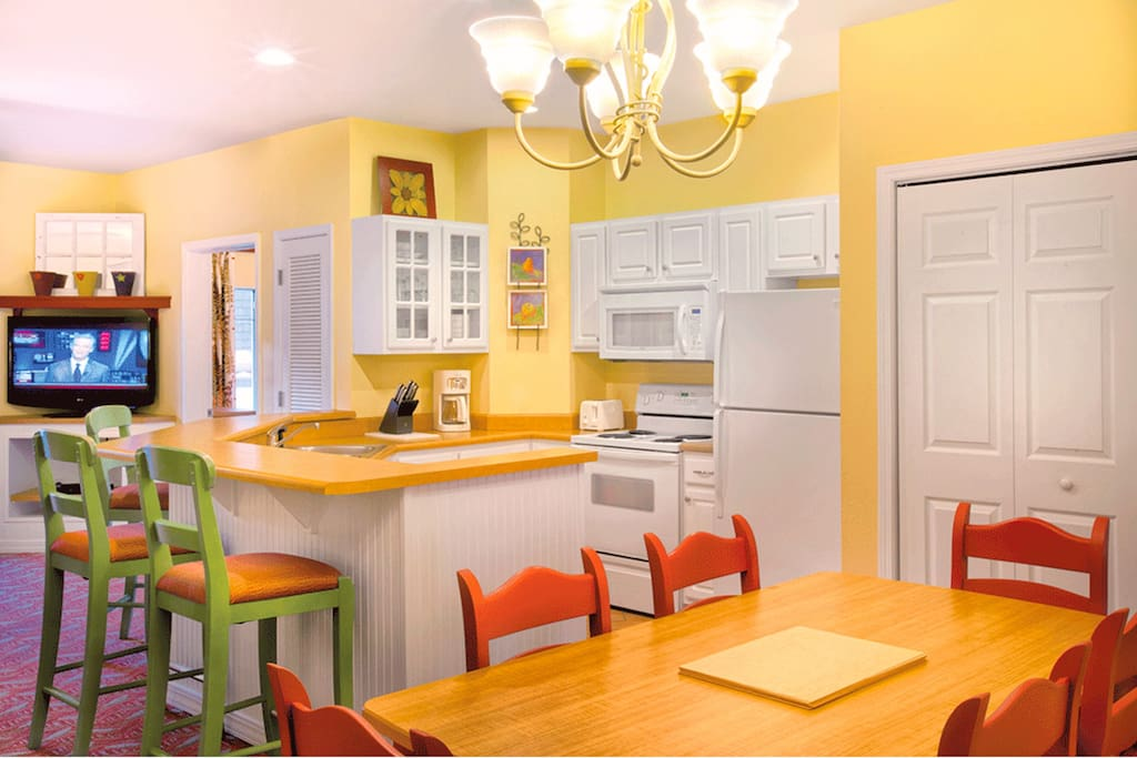 The spacious kitchen is a wonderful place to prepare delicious meals