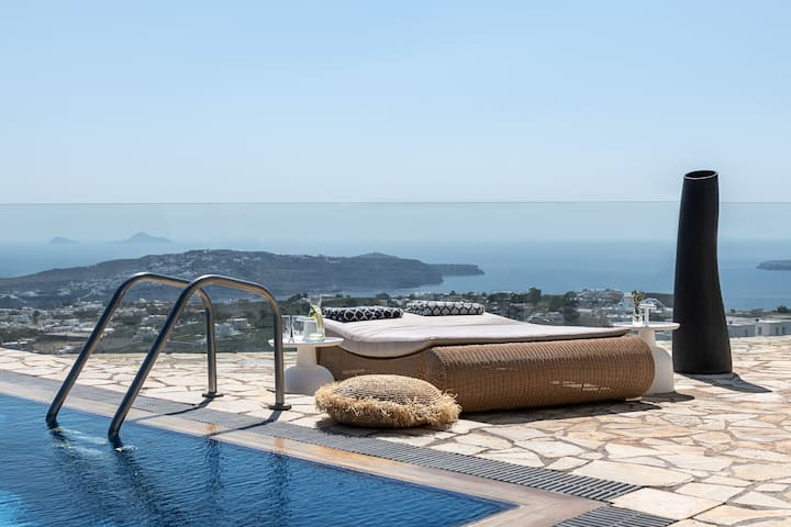 Imago Villa - Private pool, Sunset and Sea views.