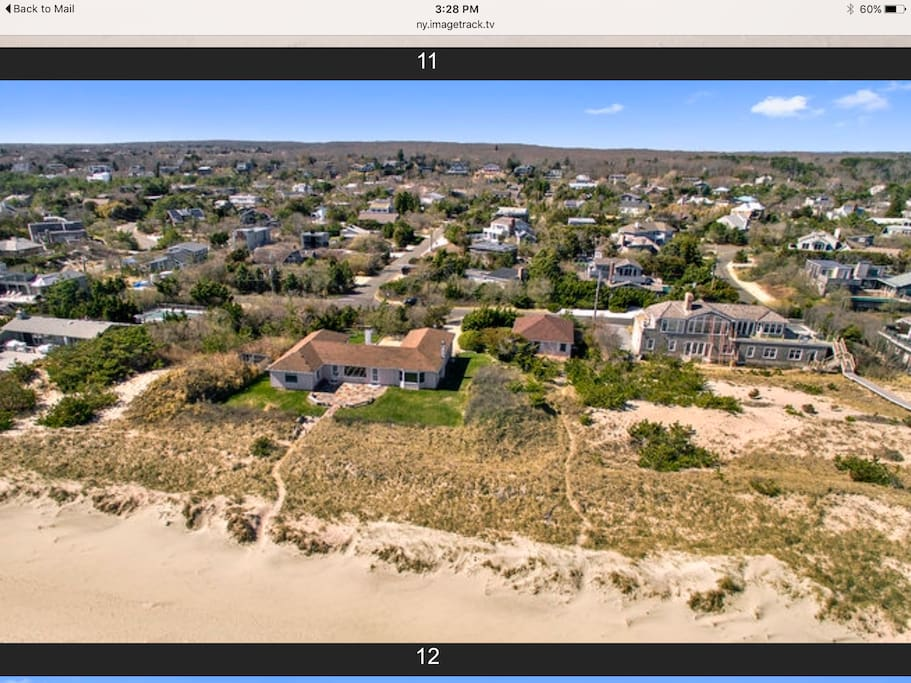 House is located right on the beach