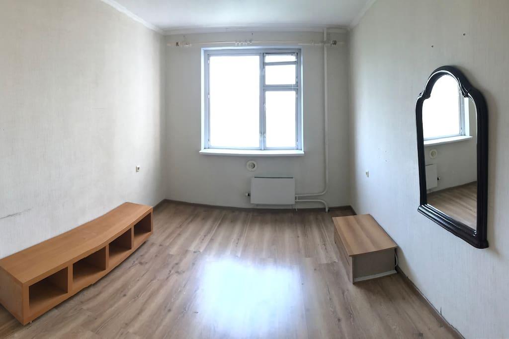 Вторая комната, место для 2-х надувных матрасов