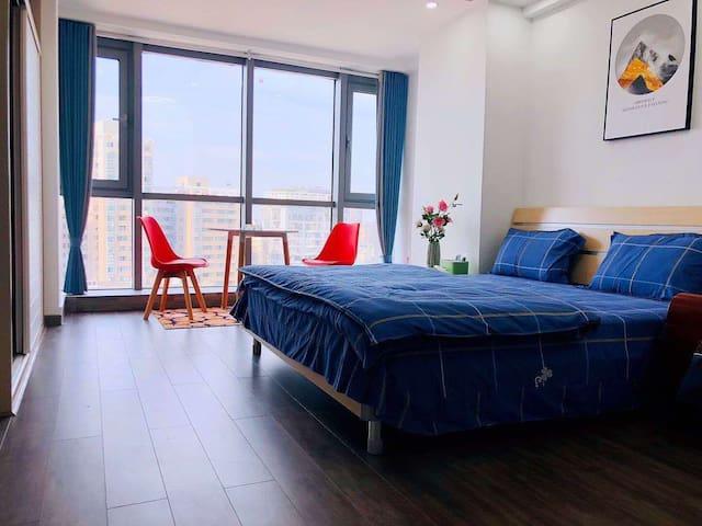 岳阳楼区东茅岭步行街小熊名宿公寓,友阿国际现代简约风格设计
