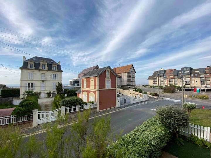 Cabourg, 2p 34m2, 4 pers, plage 50m, wifi, parking