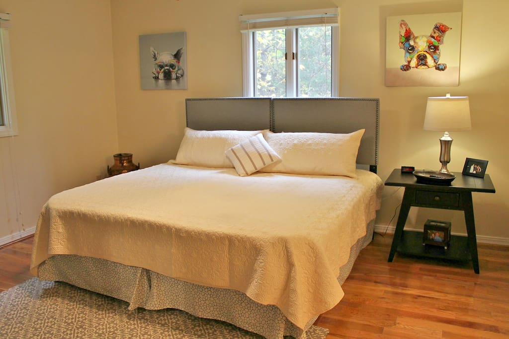 King size bed in the master suite