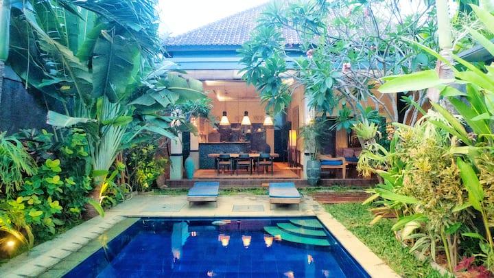 Contemporary villa private swimming pool Seminyak
