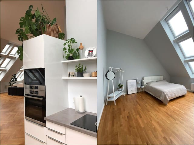 2 Bedrooms in Penthouse w/PrivateBath: ❤️ of Mitte
