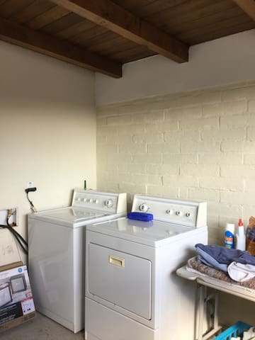 Fully heated and enclosed laundry room