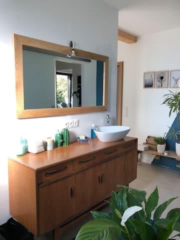 Maison neuve 25min Strasbourg Jardin/rivière