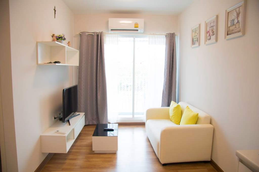 Living room, TV, sofa