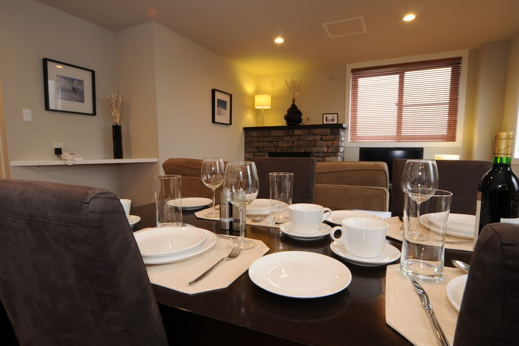 Open plan kitchen/living/dining area provides spacious entertainment area