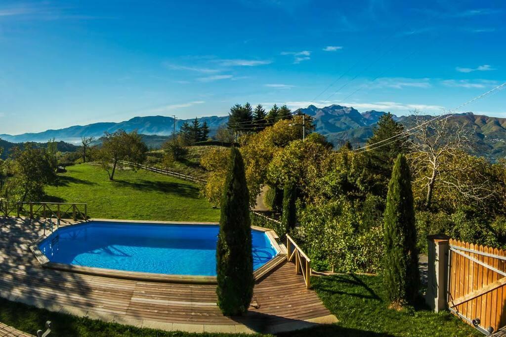 Bellissima vista sulle Alpi Apuane