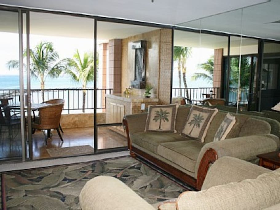 Water Fountain on Lanai and Living Room