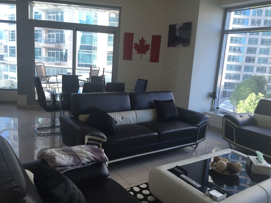 Big Living Room with LED TV, Wireless New, Apple TV, Sound System