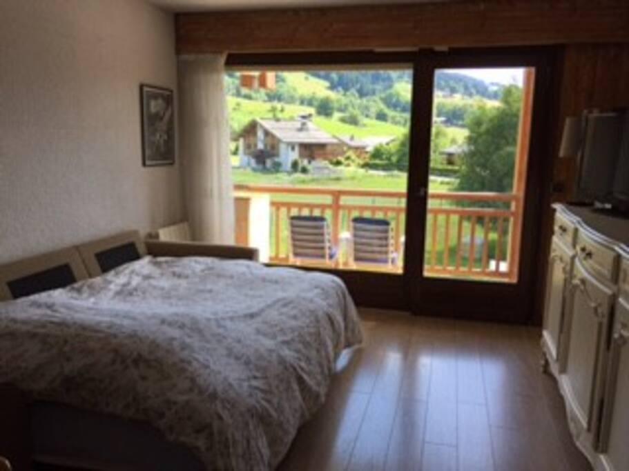 Canapé d'angle avec sur-matelas pour 2 personnes