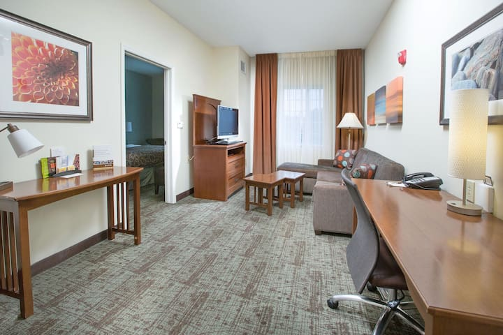 Suite with Conference Space Near Bush Field Airport | Free Daily Breakfast