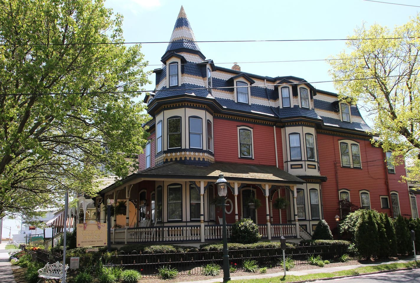 1886 Victorian 'Painted Lady'. Superior location...walk to everything! Dedicated/labeled parking behind house...easy to come and go.