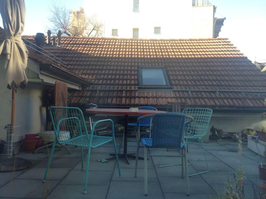 Terrasse (Nachmittagssonne)