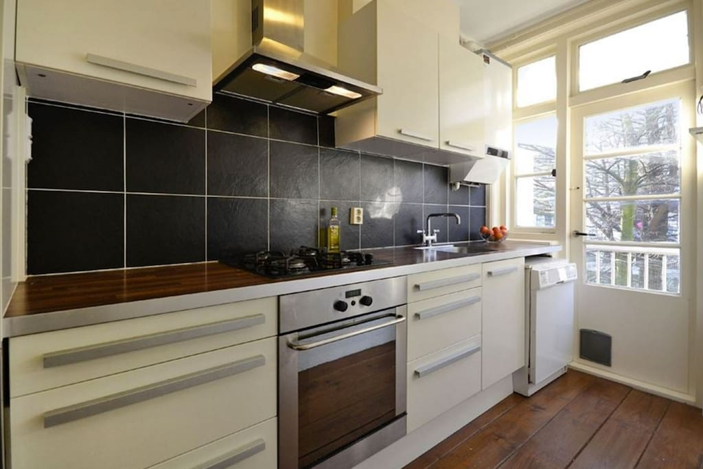 Comfortable kitchen with all neccesicitet such as Nespresso-machine, water boiler, fridge, freezer, and dish washer