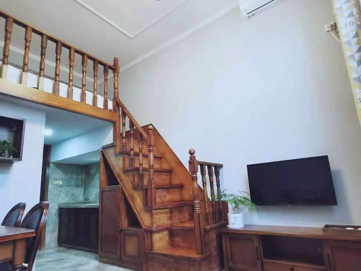 【随缘小筑】古城东门清新欧式loft公寓