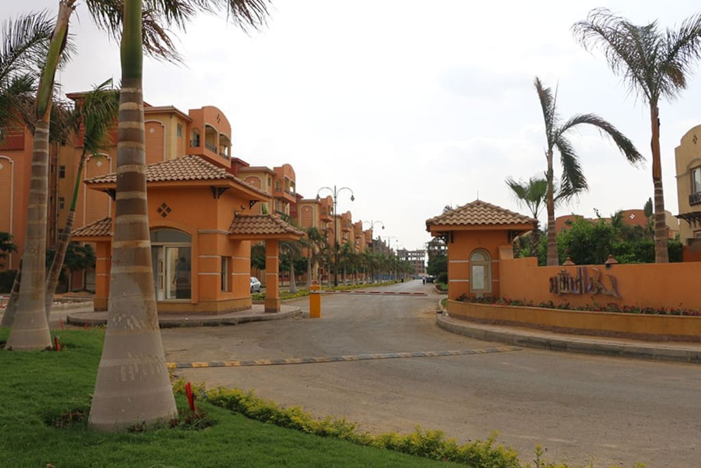 the entrance of the compound