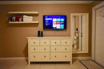 HDTV with streaming device with all of your favorite apps