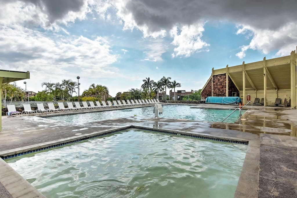 Enjoy swimming laps at the community pool.