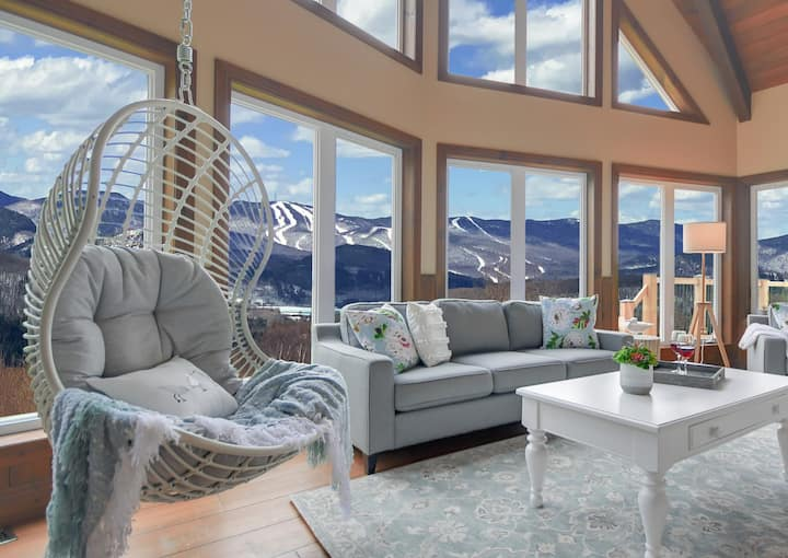 Enjoy sunsets☀️ on Tremblant from the couch, patio, sauna, or hot tub